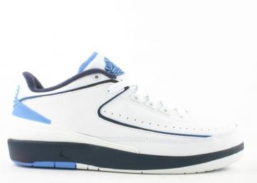 Air Jordan 2 Retro Low Midnight Navy Columbia White Blue 309837-141