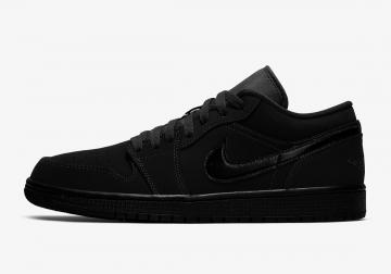 Air Jordan 1 Low Triple Black Mens Basketball Shoes 553558-056