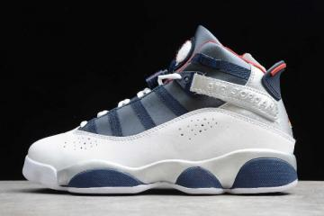 2019 Jordan 6 Rings Olympic White Varsity Red Midnight Navy Metallic Silver 322992 161