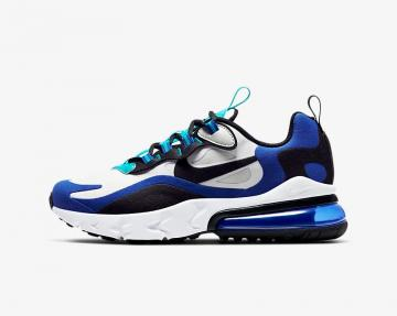 Nike Air Max 270 React GS White Oracle Aqua Blue Black BQ0103-105