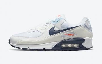 Nike Air Max 90 Sail Navy Blue Crimson Off-White Red DM2820-100