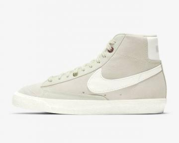 Nike SB Blazer Mid Light Bone Sea Glass Metallic Silver Summit White DH4271-001