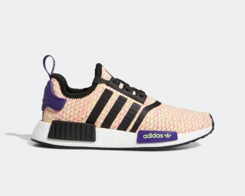 Adidas NMD R1 J Solar Yellow Pink Crystal White Black EE4402