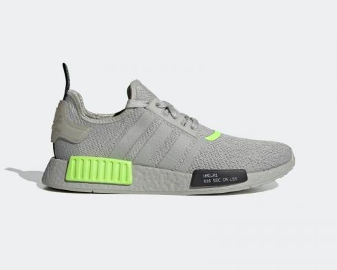Adidas NMD R1 Signal Green Metal Grey Core Black Shoes EH0044