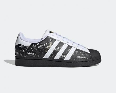 Adidas Superstar All Over Print Black Cloud White FV2820