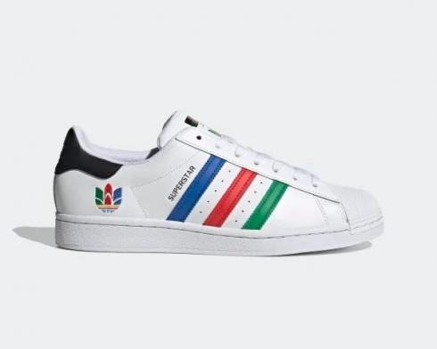 Adidas Superstar Cloud White Green Core Black Shoes FU9521