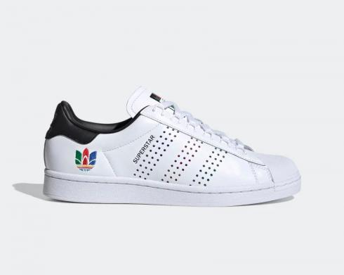 Adidas Superstar Colorful Trefoil Cloud White FW5388