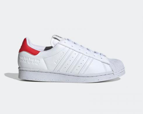 Adidas Wmns Originals Superstar Off White Cloud White Red H67922