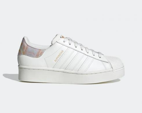 Adidas Wmns Superstar Bold Core White Gold Metallic FY6723