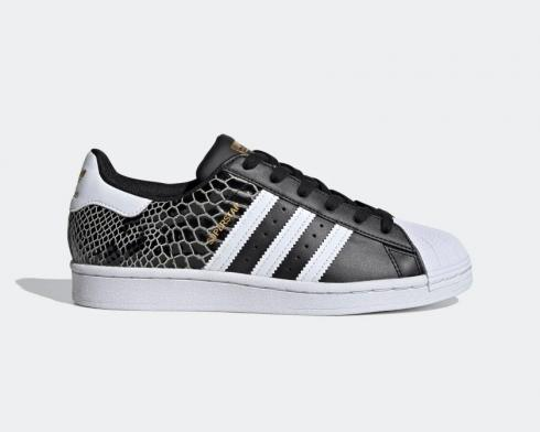 Adidas Wmns Superstar Snakeskin Core Black Gold Metallic FV3327