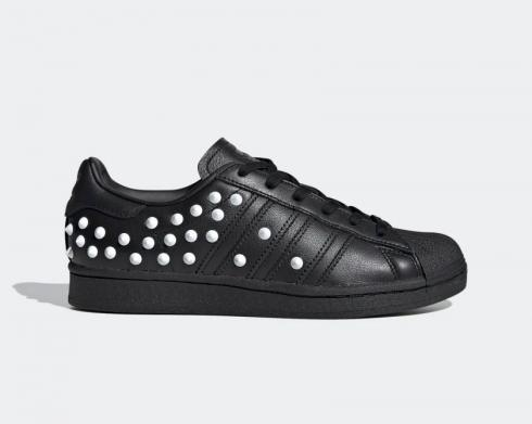 Adidas Wmns Superstar Studs Core Black Cloud White Scarlet FV3343
