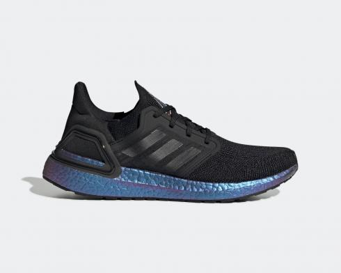 Adidas UltraBoost 20 ISS US National Lab Core Black Blue Violet Metallic EG1341