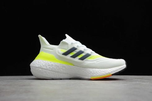 Adidas Ultra Boost UB21 Cloud White Yellow Core Black Running Shoes FY0401