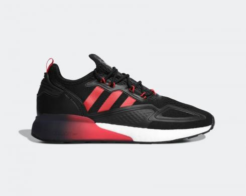 Adidas ZX 2K BOOST Cloud White Core Black Red Running Shoes FZ3322