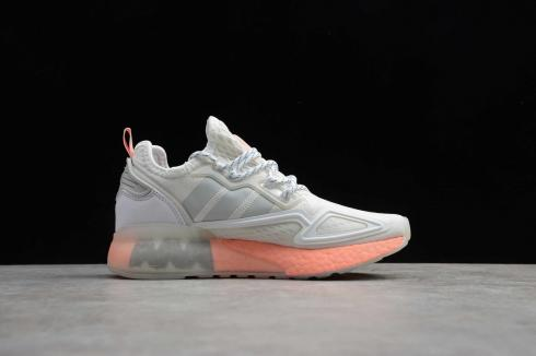 Adidas ZX 2K BOOST Cloud White Pink Grey Running Shoes FY2013