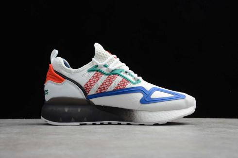 Adidas ZX 2K Boost Cloud White Scarlet Red Blue Black FZ4839