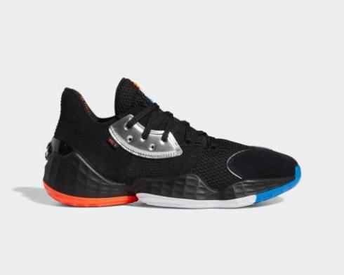 Adidas Harden Vol. 4 GCA Barbershop Black Silver Metallic Bright Blue EF1204