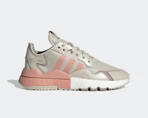 Adidas Originals Nite Jogger Grey Pink Shoes FV1333