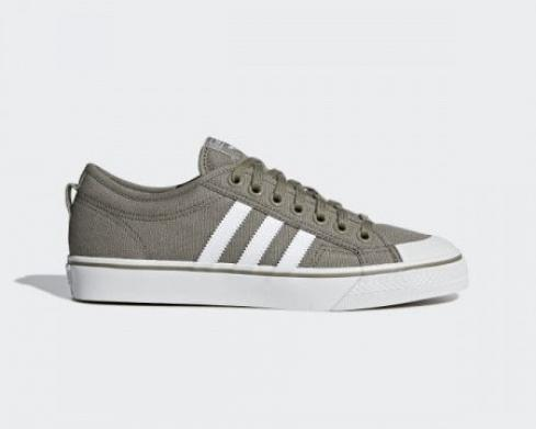 Adidas Originals Nizza Olive Brown Green Cloud White Shoes CM8572