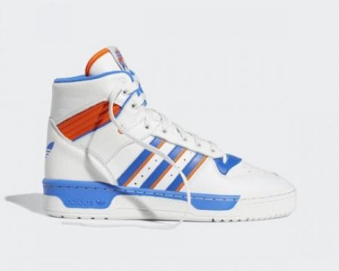 Adidas Originals Rivalry High Crystal White Blue Orange F34139