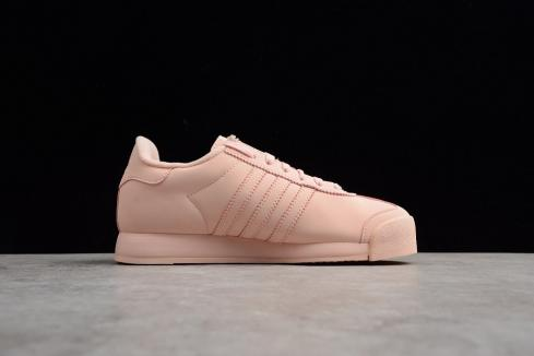 Adidas Originals Samoa Plus Icey Pink White Leather Shell Shoes BY3528