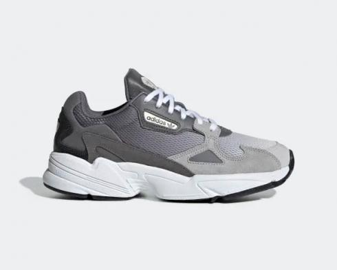 Adidas Wmns Falcon Ash Grey Core Black Cloud White Shoes EE5106