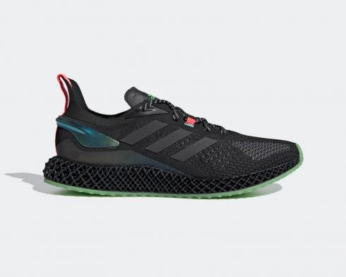 Adidas X90004D Core Black Signal Pink Green Running Shoes FW7093