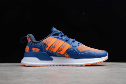 Adidas X PLR Dark Blue Orange Cloud White Running Shoes EE7658