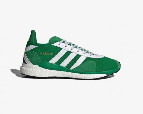 Human Made x Adidas Tokio Solar Cloud White Green Running Shoes FZ0550