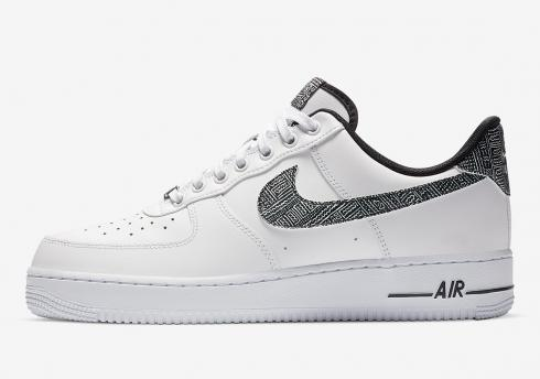 Nike Air Force 1'07 Geometric Print White Metallic Silver Black CZ7933-100