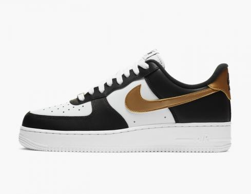 Nike Air Force 1'07 Low Black White Metallic Gold CZ9189-001