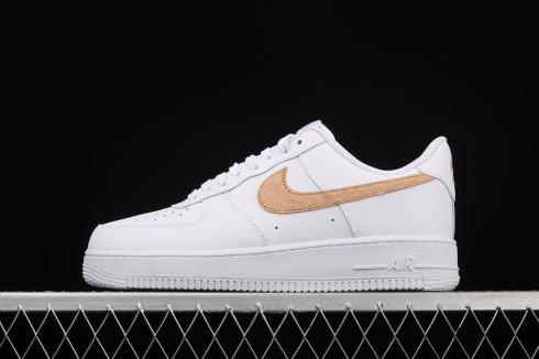 Nike Air Force 1 Low Pony Hair Snakeskin Club Gold Shoes CW7567-101