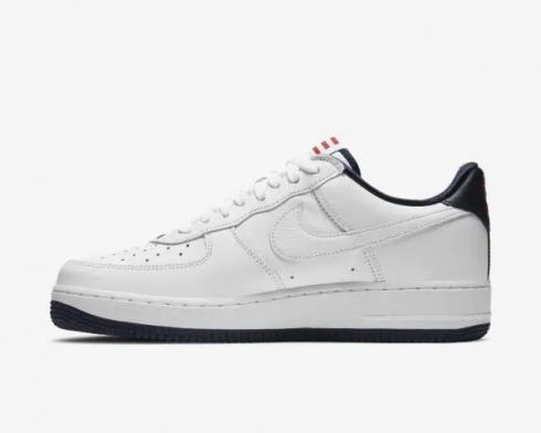 Nike Air Force 1 Low QS Puerto Rico True White Obsidian Comet Red CJ1386-100