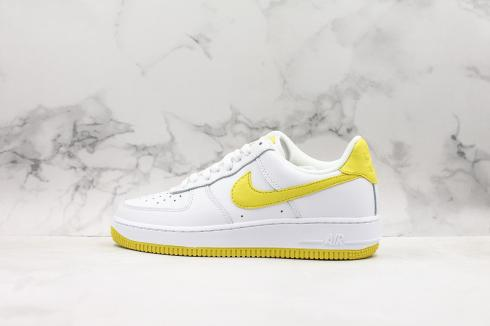 Nike Air Force 1 Low Summit White Bright Yellow Shoes AH0287-100