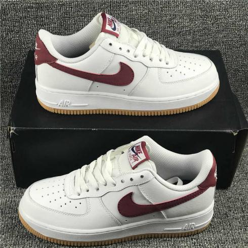 Nike Air Force 1 Low Summit White Team Red Running Shoes CK0057-101