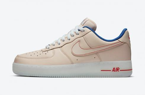 Nike Air Force 1 Low Translucent Soles Beige Blue Red DH0928-800