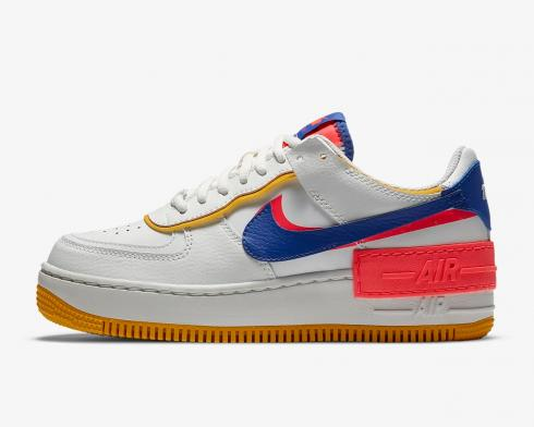 Nike Wmns Air Force 1 Shadow White Crimson Blue CI0919-105