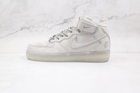 Nike Air Force 1 07 Mid Reigning Champ Grey Silver Reflective Light GB1228-185