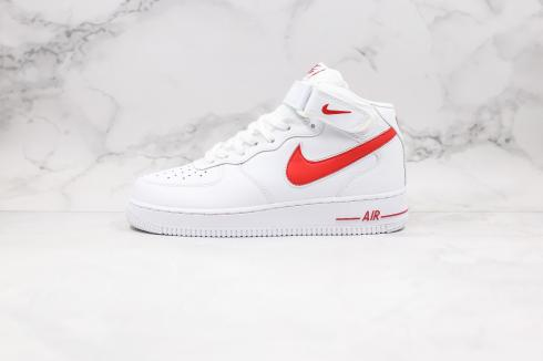 Nike Air Force 1 07 V8 Summit White Red Running Shoes AO2424-102