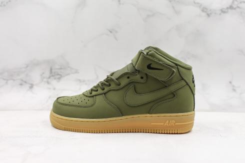 Nike Air Force 1 Mid Military Green Gum Black Shoes 922066-201