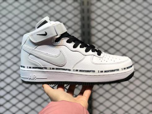 Nike Air Force 1 Mid White Black Grey Running Shoes BC2306-460