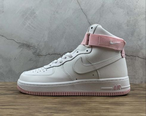 Wmns Nike Air Force 1 Mid Summit White Pink Running Shoes CD6916-102