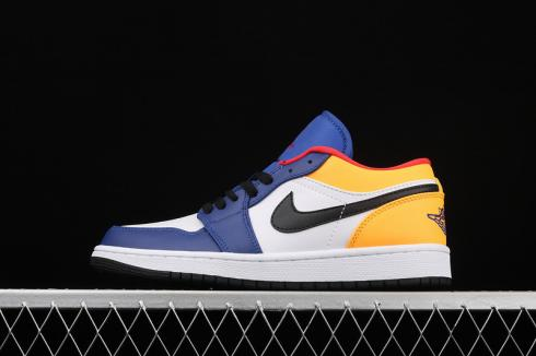Air Jordan 1 Low Cloud White Navy Blue Yellow CK3022-123