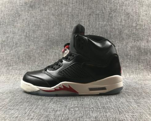 Air Jordan 5 Retro Black White Red Basketball Shoes CT6480-001