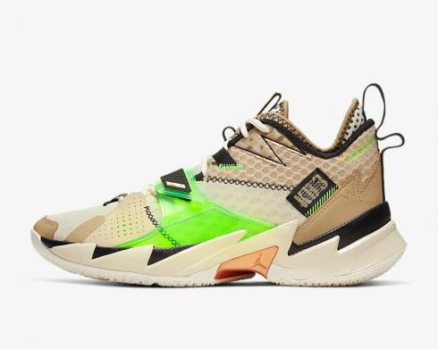 Air Jordan Why Not Zer0.3 KB3 Parachute Beige Fossil Black Rage Green CD3003-200