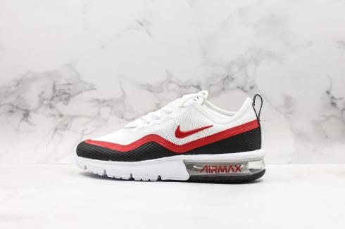 Nike Air Max Sequent 4.5 SE White Black University Red Shoes BQ8823-100