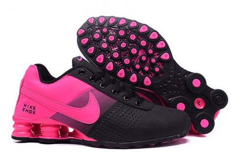 Nike Shox Deliver Women Shoes Fade Black Fushia Pink Casual Trainers Sneakers 317547