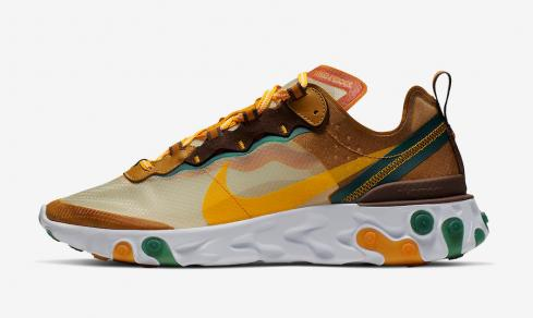 Nike React Element 87 Pale Ivory Orange Peel Green White CJ6897-113
