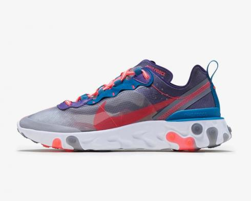 Nike React Element 87 Red Orbit Black White Green Abyss CJ6897-061