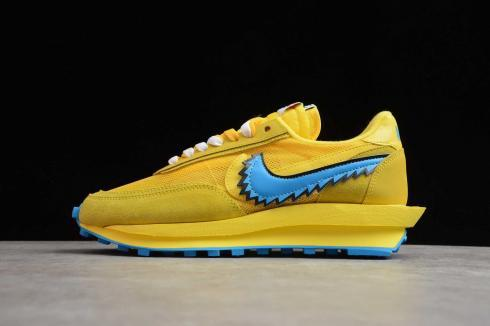 2020 Sacai x Nike LVD Waffle Daybreak Yellow Royal Blue BV5378-700